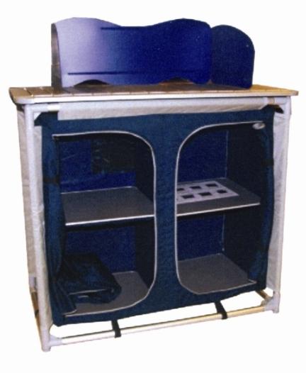 Mobile cucina Kuki 4 con paravento e 4 scomparti